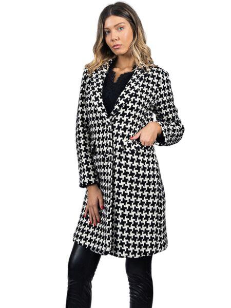 Blugirl - Crno-beli ženski kaput