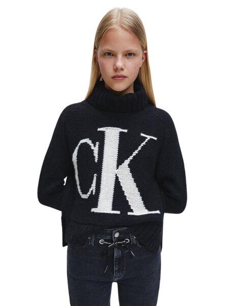 Ženski crni roll džemper - Calvin Klein