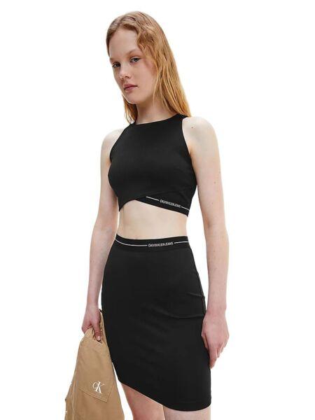 Calvin Klein - Asimetričan crni top