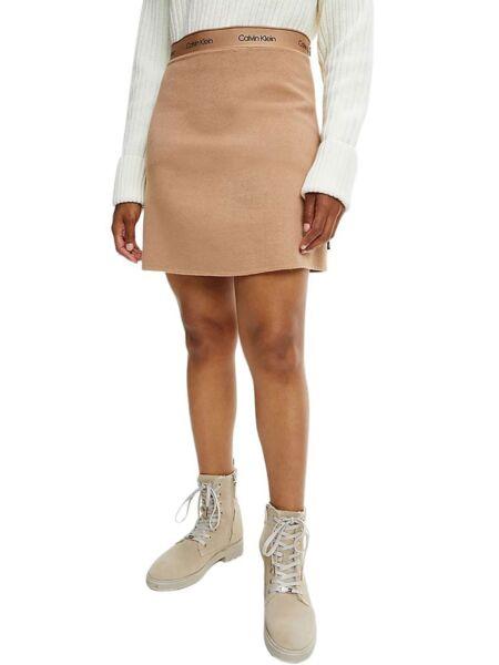 Calvin Klein - Mini bež suknja