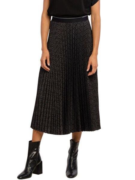 Calvin Klein - Crna suknja sa falticama