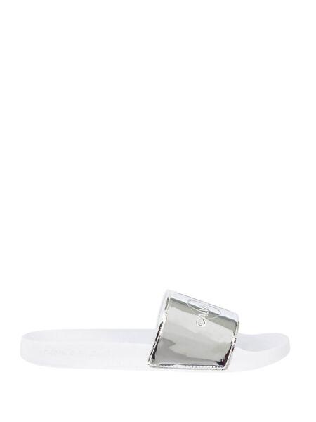 Srebrne ženske papuče - Calvin Klein