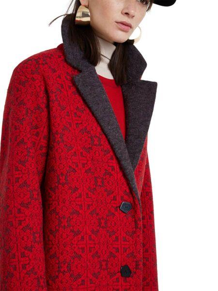 Crveni ženski kaput - Desigual