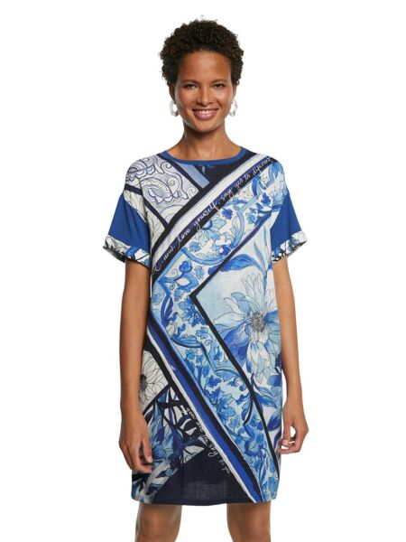Cvjetna plava haljina - Desigual