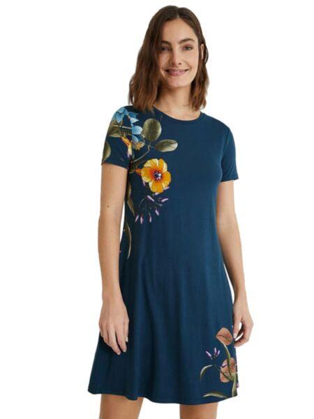 Desigual - Cvetna mini haljina