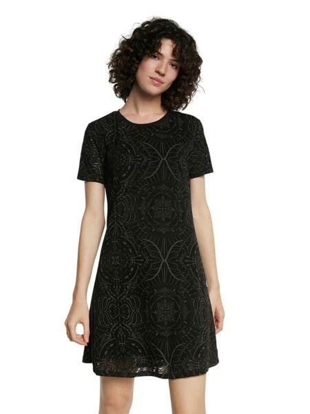Rupičasta crna haljina - Desigual