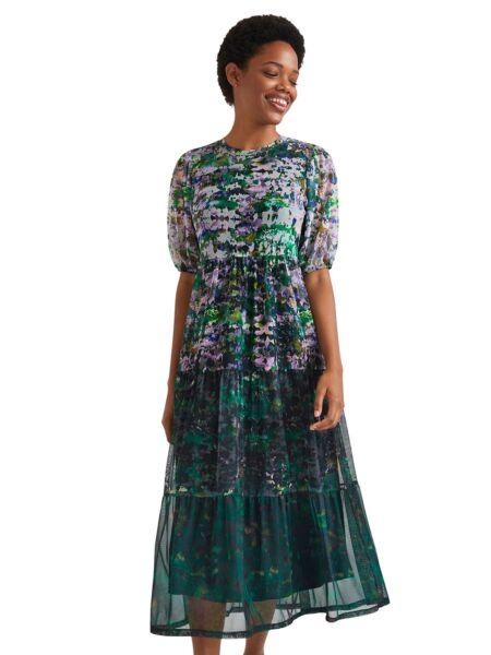 Desigual - Lepršava midi haljina