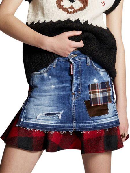 Dsquared2 - Mini teksas suknja