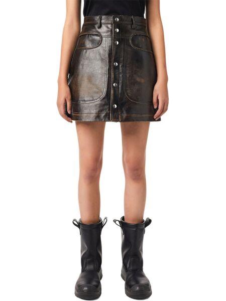 Diesel - Kožna mini suknja