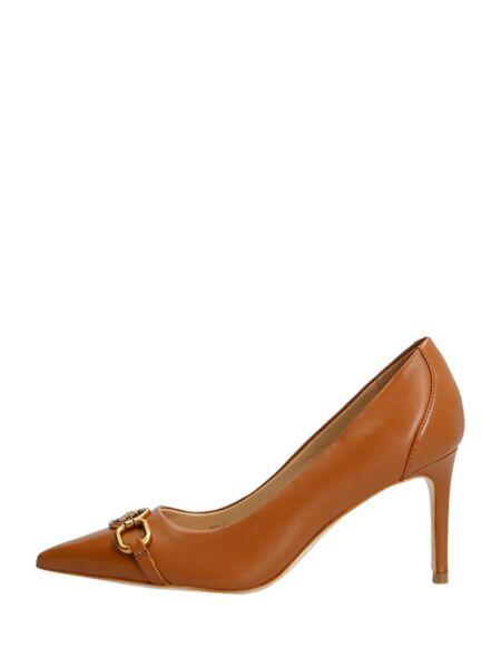 Guess - Kožne cipele sa potpeticom