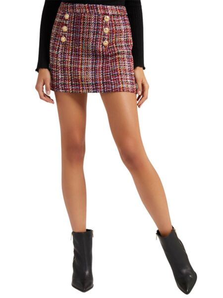 Guess - Mini suknja od tvida
