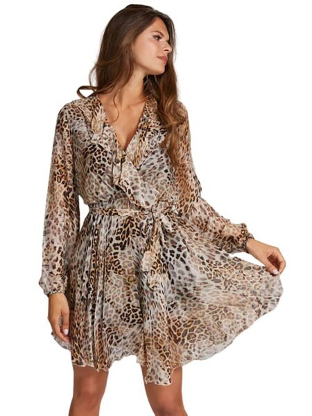 Guess - Mini leopard haljina