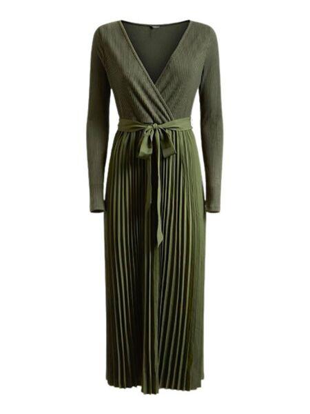 Guess - Maslinasta haljina dugih rukava
