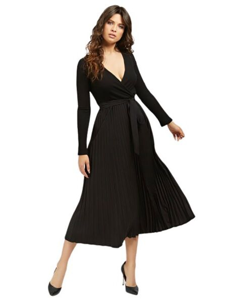 Guess - Crna haljina dugih rukava