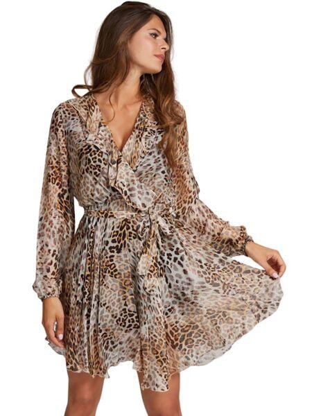 Guess - Lepršava leopard haljina