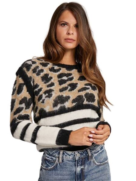 Guess - Leopard ženski džemper