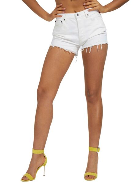 Bijele ženske krake hlače - Guess