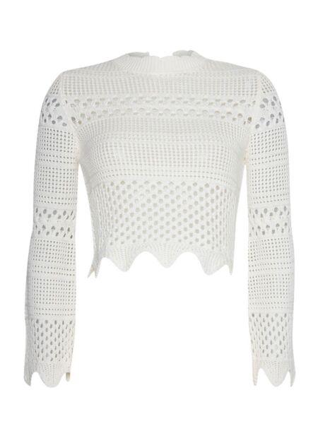 Bijeli ženski džemper - Guess