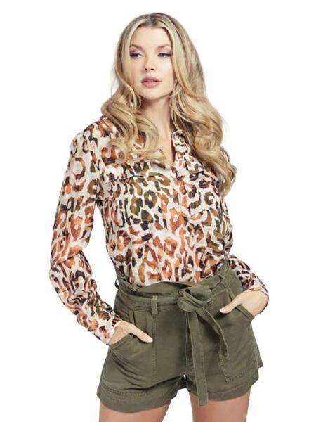 Leopard print ženska košulja - Guess
