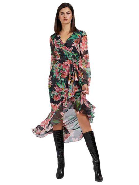 Guess - Cvetna maxi haljina