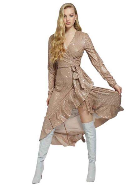 Guess - Bež haljina sa tufnicama