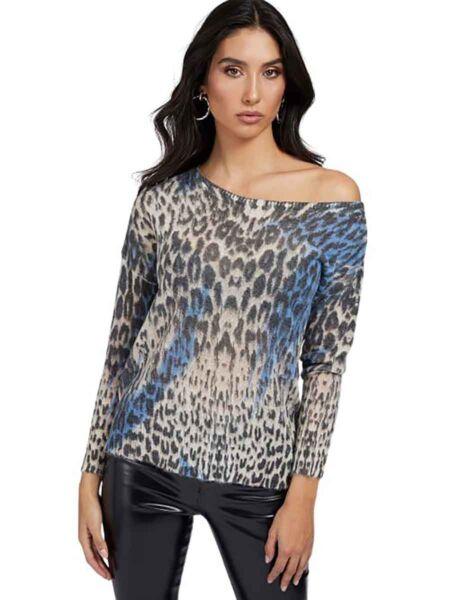 Guess - Animal print ženski džemper