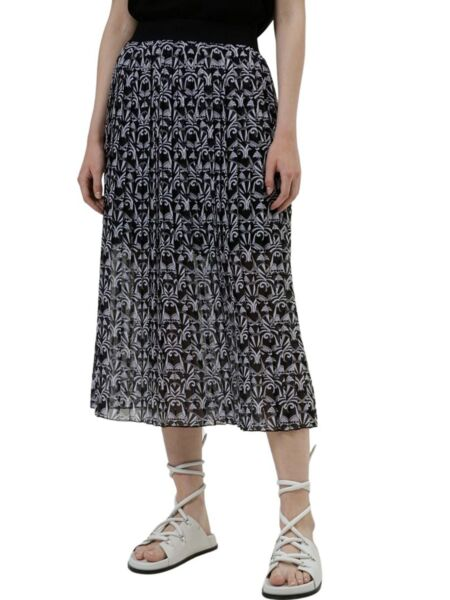 Midi suknja sa falticama - HUGO