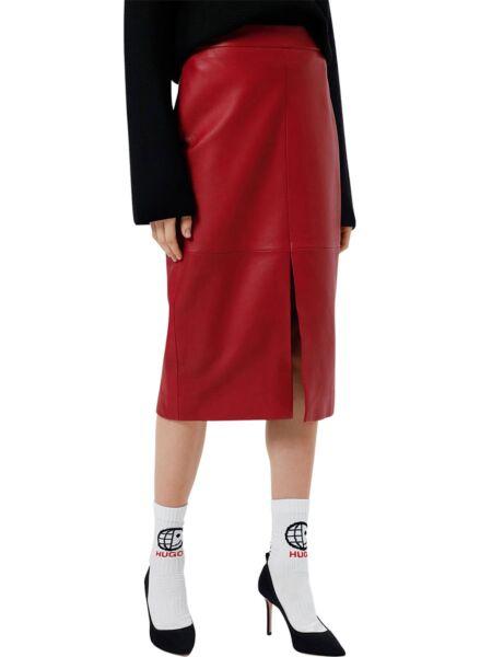 HUGO - Kožna pencil suknja