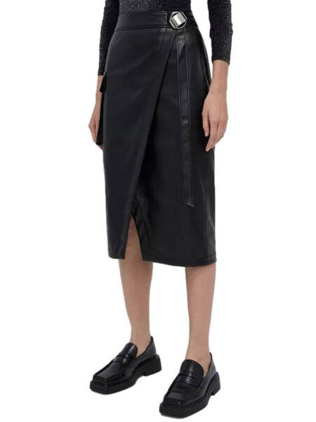 HUGO - Crna suknja od eko kože