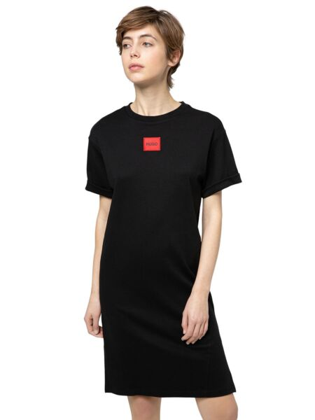 Pamučna haljina kratkih rukava - HUGO