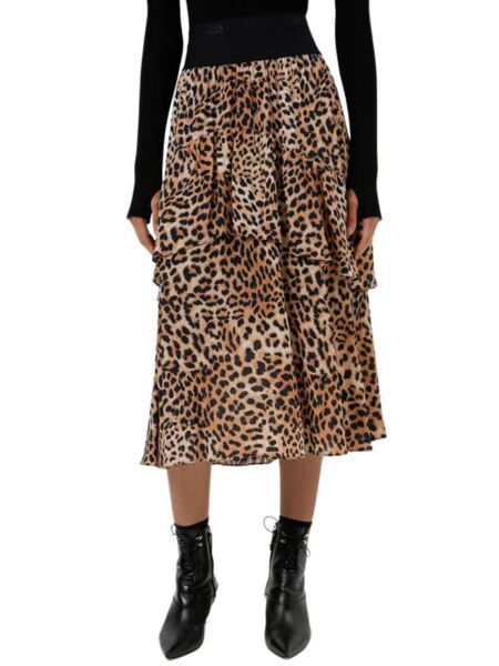 HUGO - Midi leopard suknja