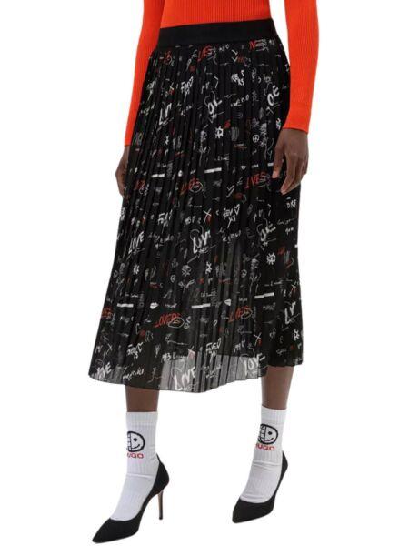 HUGO - Midi suknja s printom