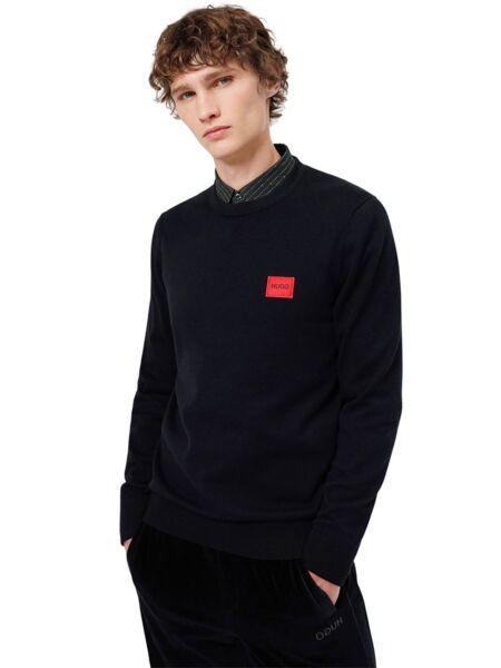 HUGO - Crni muški džemper