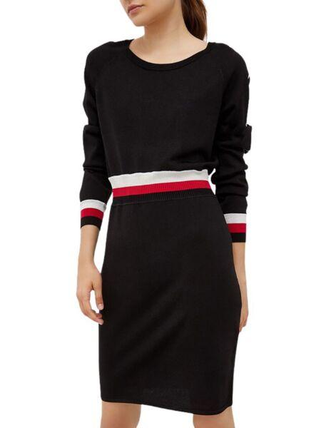 Liu Jo - Crna haljina sa lurexom