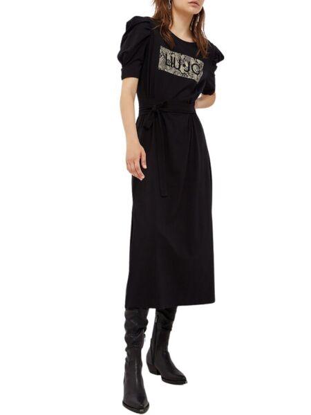 Liu Jo - Crna haljina sa puf rukavima