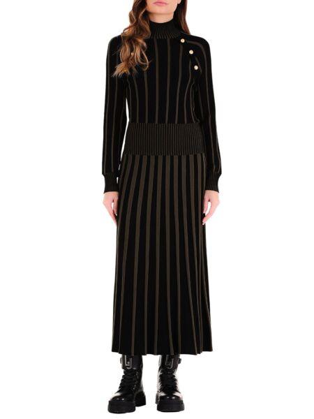 Liu Jo - Dugačka prugasta haljina