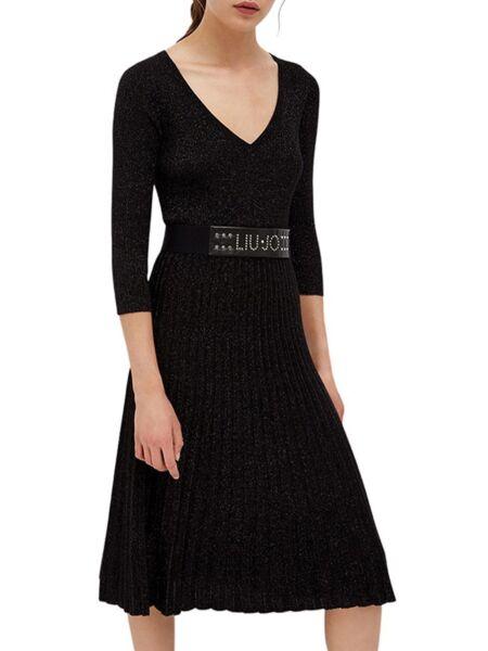 Liu Jo - Crna midi haljina