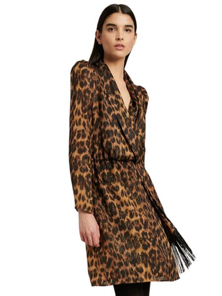 Luisa Spagnoli - Leopard midi haljina