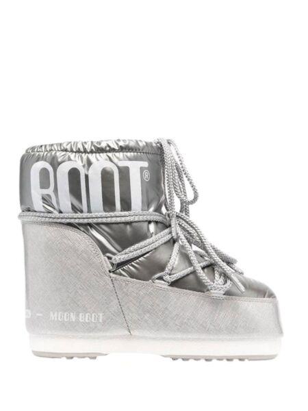 Moon Boot - Srebrne ženske čizme