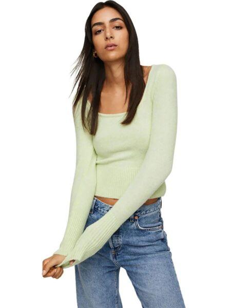 Mango - Zeleni ženski džemper