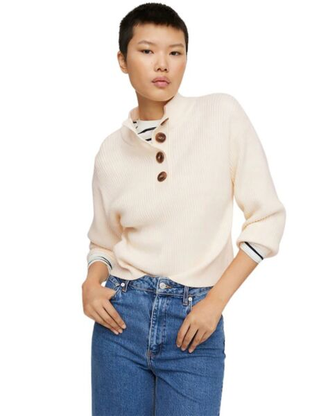 Mango - Ženski džemper sa dugmadima