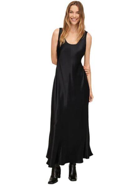 Mango - Maxi crna haljina