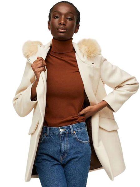 Mango - Ženski kaput sa kapuljačom