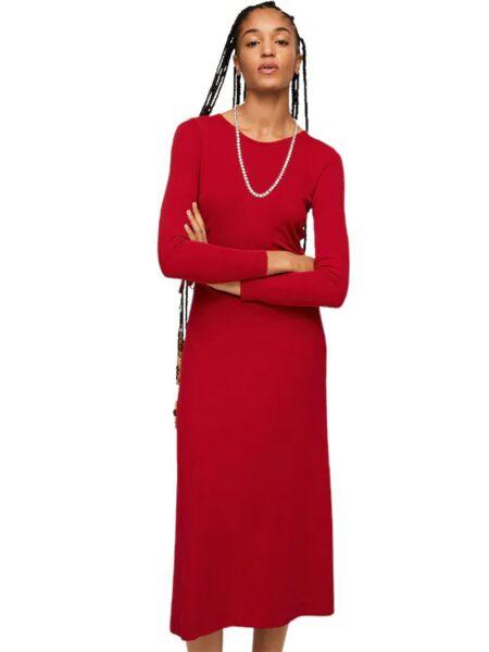 Mango - Crvena midi haljina