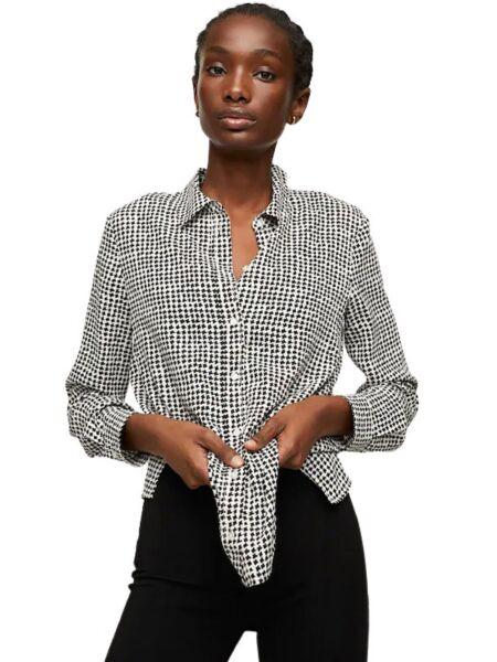 Mango - Crno-bijela ženska košulja