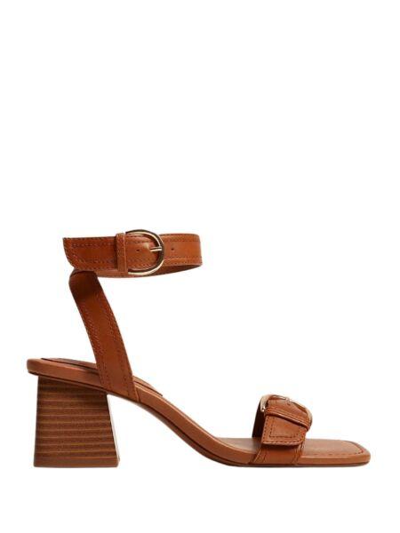 Braon ženske sandale - Mango