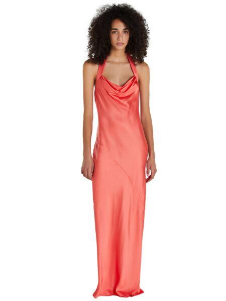 Satenska koraljna haljina - Patrizia Pepe