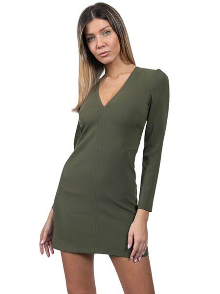 Patrizia Pepe - Maslinasta mini haljina