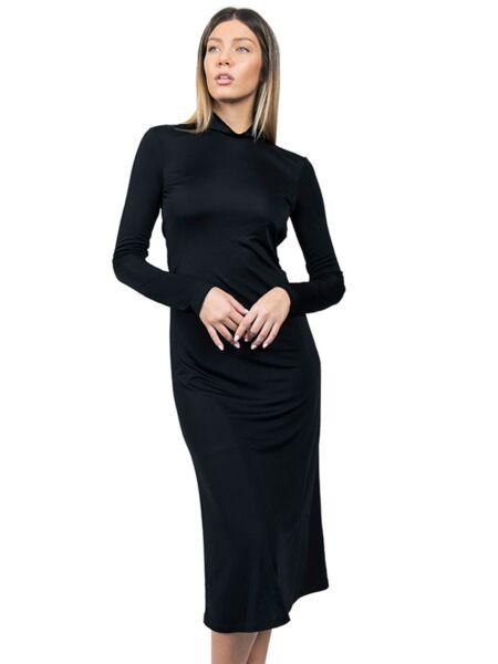 Patrizia Pepe - Crna midi haljina