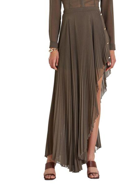 Maslinasta suknja s faldicama - Patrizia Pepe